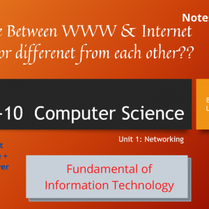 Class- X Computer Science Unit 1 (Networking) Notes